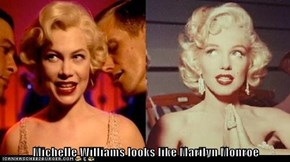Michelle Williams looks like Marilyn Monroe