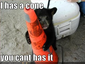 I has a cone  you cant has it