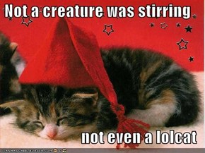 Not a creature was stirring  not even a lolcat