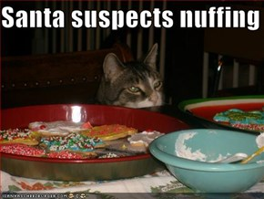 Santa suspects nuffing