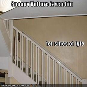 Snoopy Vulture iz wachin fer sines of lyfe