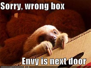 Sorry, wrong box  Envy is next door