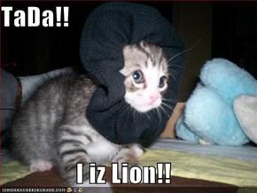 TaDa!!  I iz Lion!!