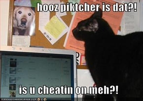 hooz piktcher is dat?!  is u cheatin on meh?!