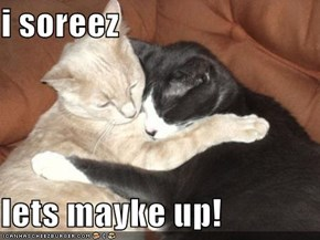 i soreez  lets mayke up!