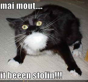 mai mout....  it beeen stolin!!!