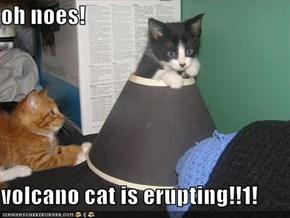 oh noes!  volcano cat is erupting!!1!