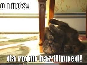oh no's!  da room haz flipped!