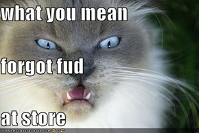 what you mean forgot fud at store