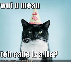wut u mean  teh cake iz a lie?