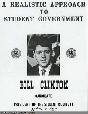 Flashback! Bill Clinton For Student Council